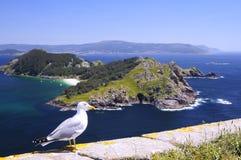 Islands Cies in Vigo, Spain. Royalty Free Stock Photo