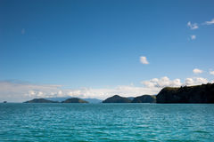 Islands of Coromandel Peninsula. Islands of the Coromandel Peninsula, New Zealand.  Popular boating area, with safe anchorages, this area is the classic clean Royalty Free Stock Photo