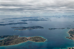 Islands of Croatia. Islands of the coast of Adriatic sea near town of Primošten Stock Image