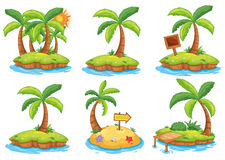 Islands with different signs Stock Image