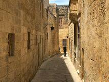 Free Islands European Country Malta. Mdina Castle, Beautiful Medieval Arcitecture Stock Photo - 190807050