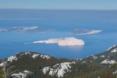 Islands Goli,Sveti Grgur and Rab Stock Images