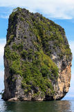 Islands with Green in Krabi Province, Thailand Royalty Free Stock Photos