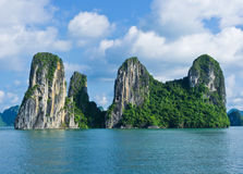 Islands in Halong Bay Royalty Free Stock Photo