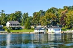 1000 Islands and Kingston. Kingston, Canada - July 17, 2015: 1000 Islands and Kingston in Ontario, Canada stock photo