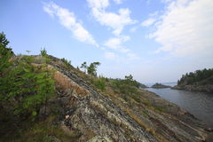 Islands of Ladoga lake Stock Images