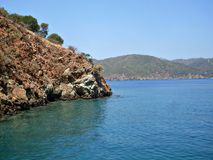 Islands in Mediterranean sea Turkey Royalty Free Stock Images