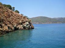 Islands in Mediterranean sea Turkey Royalty Free Stock Images