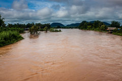 Islands on Mekong river Royalty Free Stock Photography