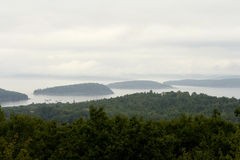 Islands in the mist Stock Photography