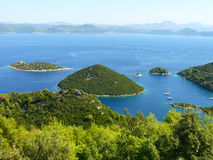 Islands of Mljet. Beautiful calm bay on island Mljet - Croatia Royalty Free Stock Photography
