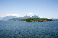 Islands and mountains Stock Photography