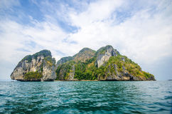 Islands at the national hat noppharat thara, Krabi, Thailand Royalty Free Stock Photo