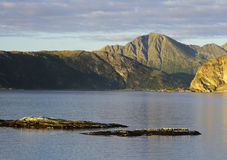 Islands near Sommaroya in northern Norway. Islands near Sommaroya, Troms County, northern Norway stock photography