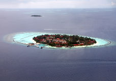 Islands in the ocean. Aerial view. Stock Image