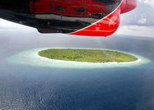 Islands in the ocean. Aerial view. Stock Photography