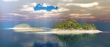 Islands in the ocean Stock Photo