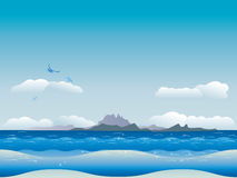 Islands in ocean Stock Photography