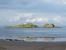 Islands off East Lothian beach Royalty Free Stock Image