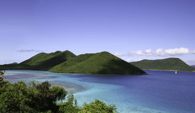 Islands off St John. Seascape off St John island in the Caribbean stock photography