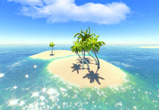 Islands and palms Royalty Free Stock Photos