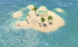 Islands and palms Stock Photos