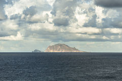 The islands of Panarea and Basiluzzo stock images