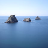Islands at Pen-Hir Cape. Crozon Peninsula, Brittany, France Royalty Free Stock Photo