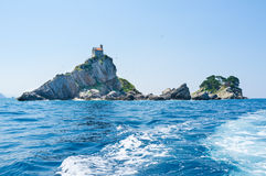 The islands of Petrovac Stock Image