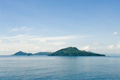 Islands in picturesque ocean Royalty Free Stock Image