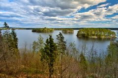 Islands on the Rymmen lake at Högakull Natural Reserve Royalty Free Stock Photography