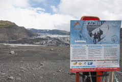 ³ Islands Sà lheimajökull Lizenzfreie Stockfotos