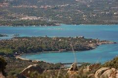 Islands of Sardinia's north. Landscape seen from the island of Caprera to the island of the Maddalena Stock Photo