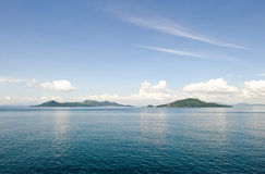Islands in scenic ocean Royalty Free Stock Images