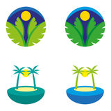 Islands 2. A set of island icons Royalty Free Stock Photos