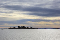 Islands in silhouette Stock Photography