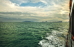 Islands in Southeast Asia. Crossing on ferry. Royalty Free Stock Photography