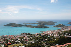 Islands in St. Thomas, Caribbean Royalty Free Stock Images