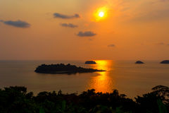Islands in the sunset Royalty Free Stock Photos