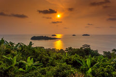 Islands in the sunset Stock Photography