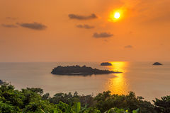 Islands in the sunset Stock Image