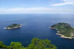 Islands. Surrounded by a blue ocean in Rio de Janeiro Stock Photos