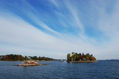 Islands in Thousand Islands Region, New York Stock Image