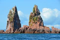 Islands of Verkhovsky in Amur Bay in Primorsky region, Russia Stock Image