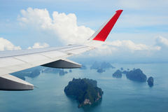 Islands , view from the plane Stock Photos