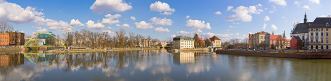 On the islands in Wroclaw, Poland Stock Photos