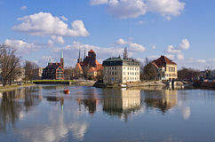 On the islands in Wroclaw, Poland Royalty Free Stock Photo