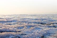 Islandskapbakgrund siberia för flod för isjanuari naturlig ob textur 2007 Ungern Balaton sjö Royaltyfria Bilder