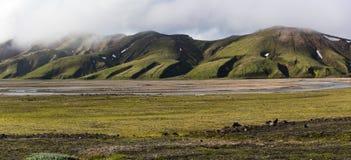 Islandzcy średniogórza Zdjęcie Royalty Free