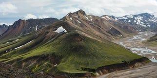 Islandzcy średniogórza Zdjęcia Stock